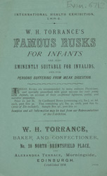 Advert for WH Torrance's rusks